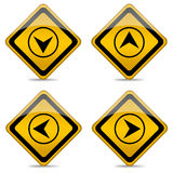 Direction arrow button Royalty Free Stock Photo