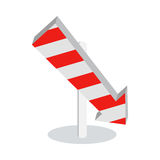 Direction Arrow Icon Sign Symbol  on White. Direction arrow icon  on white background. New level at something. Going in the following stage at achieving Stock Photos