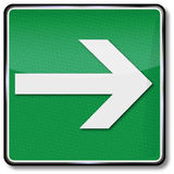 Direction arrow and right Royalty Free Stock Photo