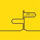 Direction arrow sign. Stock Photos