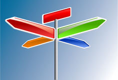 Direction arrows Royalty Free Stock Photography