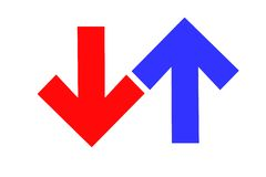 Direction arrows Stock Images