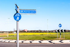 Direction for Business Parks Stock Photos