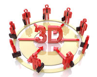Direction of the business to 3d Stock Photo
