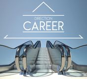 Direction career concept and stairs of success Stock Photography