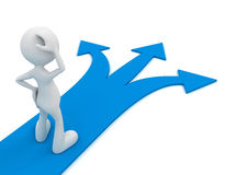 Direction choice concept 3d illustration. Direction choice 3d illustration  on white background Royalty Free Stock Images