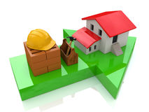 Direction construction in the real estate stock photos
