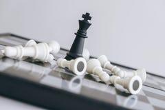 Direction d'échecs et concept de succès, économies d'échecs la stratégie Image libre de droits