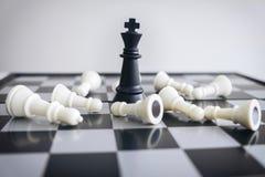 Direction d'échecs et concept de succès, économies d'échecs la stratégie Image stock
