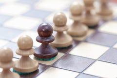 Direction d'affaires, concept de travail d'équipe Jeu des échecs Photo libre de droits