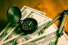 Direction d'affaires pour l'argent Image libre de droits