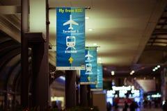 Direction d'insecte dans l'aéroport international de Kansai Photo libre de droits