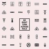direction de l'icône de rotation Ensemble universel d'icônes ferroviaires d'avertissements pour le Web et le mobile illustration stock