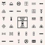 direction de ligne icône de train Ensemble universel d'icônes ferroviaires d'avertissements pour le Web et le mobile illustration stock