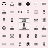 direction de ligne icône de train Ensemble universel d'icônes ferroviaires d'avertissements pour le Web et le mobile illustration de vecteur