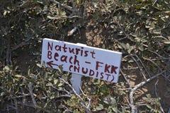 Direction de plage de nudiste Images stock