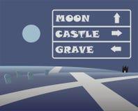 Direction de route de Halloween illustration libre de droits