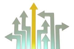 direction des affaires 3d et concept de stratégie illustration de vecteur