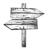 Direction en bois illustration de vecteur