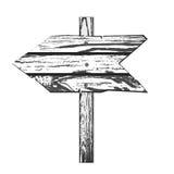 Direction en bois illustration stock