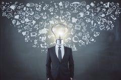 Direction et concept d'innovation Photos stock