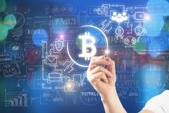 Direction et concept de cryptocurrecy Photographie stock libre de droits