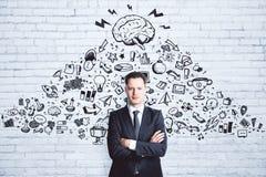 Direction et concept de finances Images stock