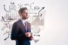Direction et concept de finances photographie stock