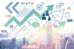 Direction et concept de finances Image stock
