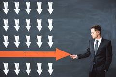Direction et concept de victoire illustration de vecteur