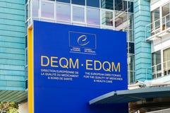 Direction européenne pour la qualité de la médecine Images libres de droits