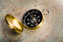 Direction and Guidance Concept. Map is a drawing or plan of the surface of the earth that shows countries, mountains, roads, etc Stock Images