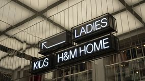 The direction in the H&M shop royalty free stock photo
