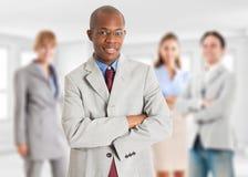 Direction, homme d'affaires avec son équipe Images libres de droits