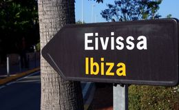 Direction: Ibiza! royalty free stock photography