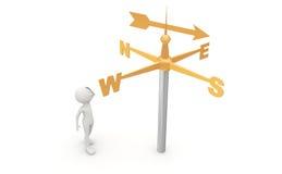 Direction indicator royalty free stock image
