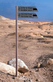 Direction indicator in the Judean desert. Stock Images