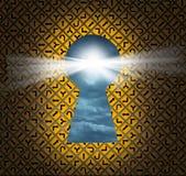 Direction Key hole Royalty Free Stock Photo
