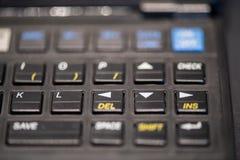 Direction keys of an advanced handheld calculator stock photos