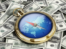 Direction of the money Stock Photo