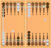 Direction of movement of chips backgammon Royalty Free Stock Photography