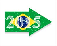 Direction 2015 New Year, Christmas. Direction 2015 New Year. Christmas. Infographics. Vector. Icon. flag of Brazil Stock Photo