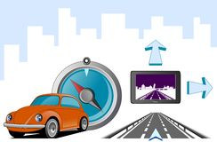 Direction Pisa. Illustration about navigation interface and systems on white background Stock Photo
