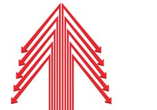 Direction rouge abstraite de symbole de flèches sur le vecteur futuriste moderne de conception blanche d'espace vide Image stock