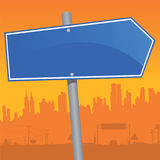 Direction Sign. Vector illustration of a direction sign Royalty Free Stock Image