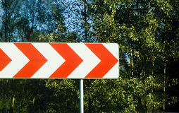 Direction sign. Photo of direction sign - turn left Royalty Free Stock Images