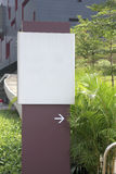 Direction sign. At the passageway Stock Photos