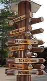 Direction sign Stock Photo
