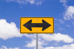 Direction sign. Stock Photo