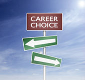 Direction sign in career choise stock illustration